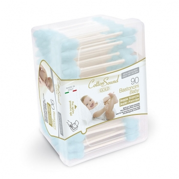 90 Bastoncini Baby Blu Linea Gold