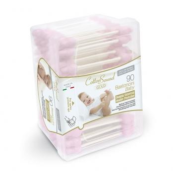90 Bastoncini Baby Rosa Linea Gold